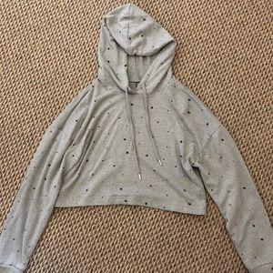 Cropped star sweatshirt
